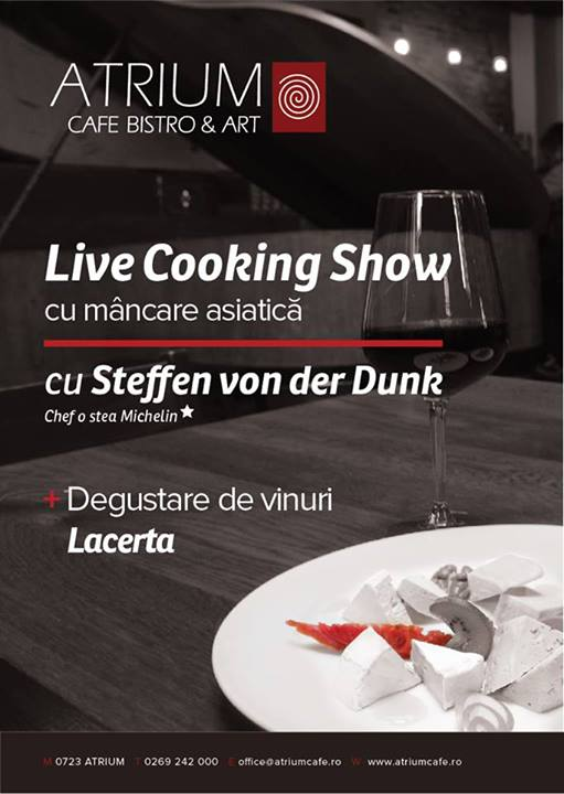 LIVE COOKING SHOW @ ATRIUM CAFE BISTRO & ART