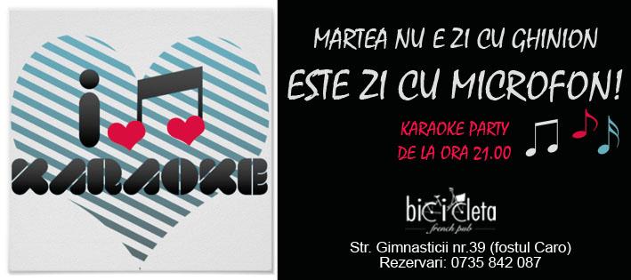 Karaoke @ Bicicleta French Pub