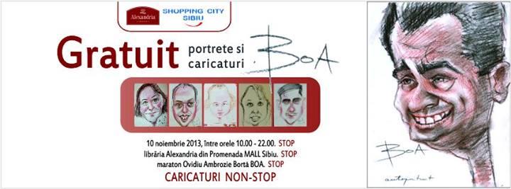 Maraton de caricaturi și portrete gratuite marca BOA