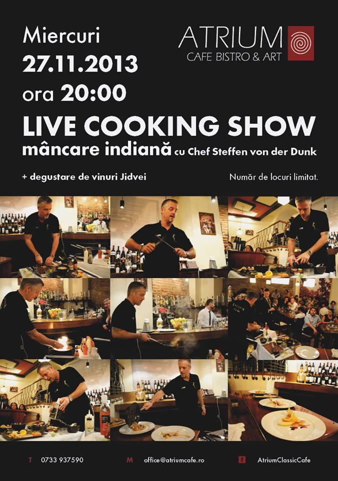 Live cooking show cu chef Steffen von der Dunk