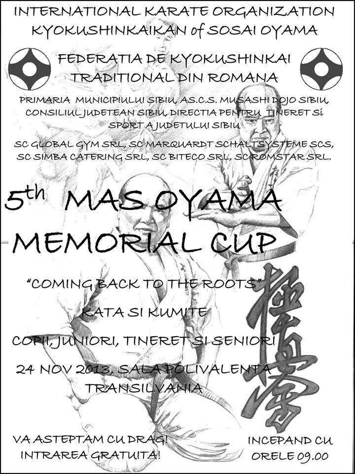 "CUPA INTERNAŢIONALA de KARATE KYOKUSHINKAI ""MAS OYAMA MEMORIAL CUP"""
