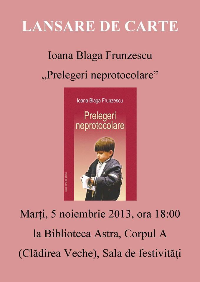 Lansare de carte: Ioana Blaga Frunzescu