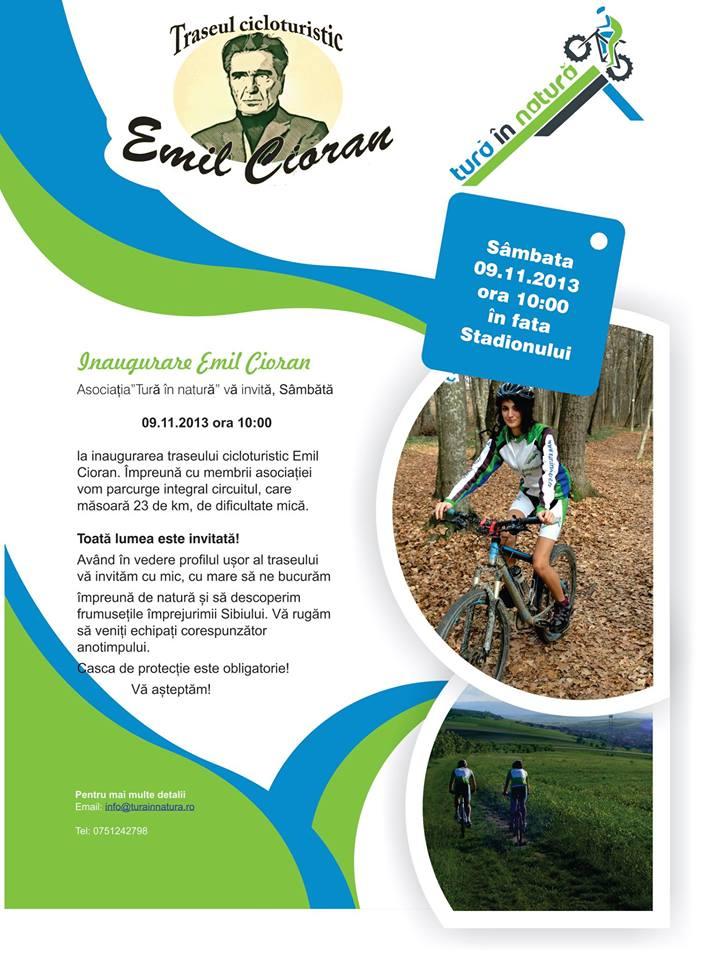 Inauguarea traseului cicloturistic Emil Cioran Public
