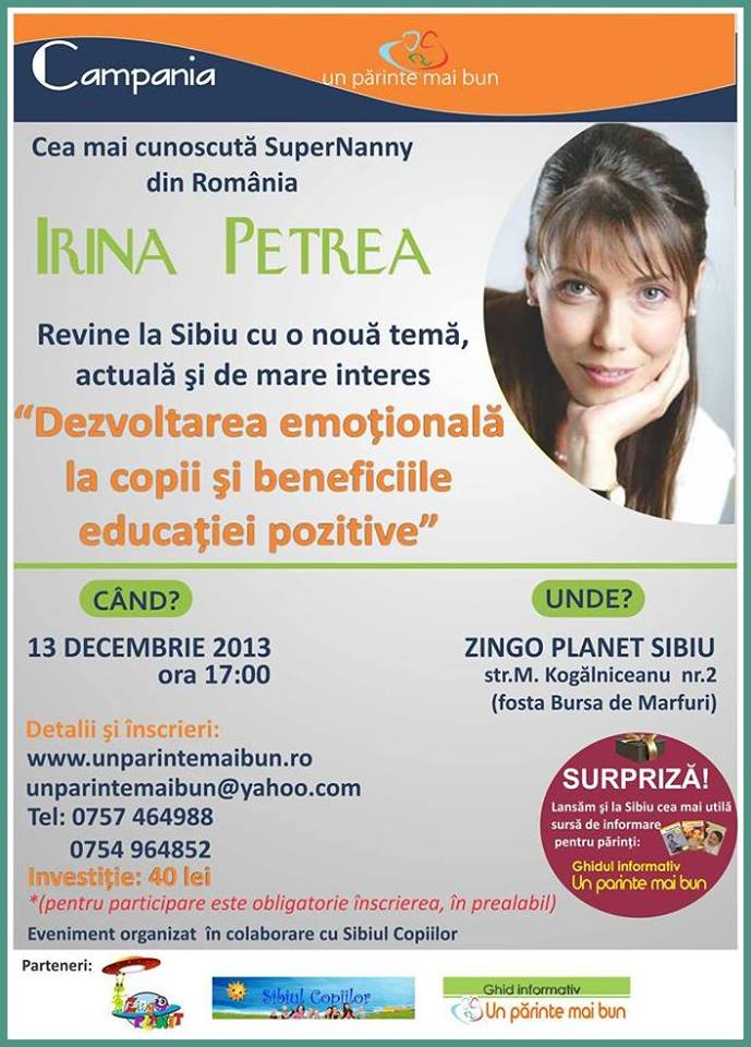 SuperNanny Irina Petrea in dialog cu sibienii