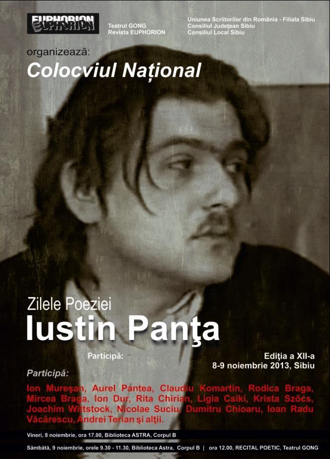 "Colocviul National ""Zilele Iustin Panta"""