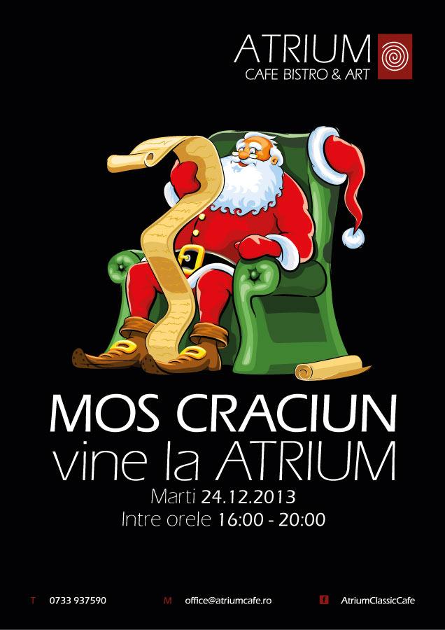 Moş Crăciun vine la Atrium