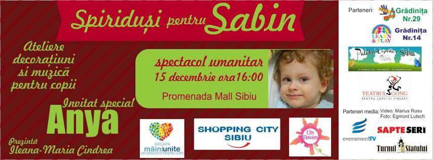 Spiriduși pentru Sabin, spectacol umanitar