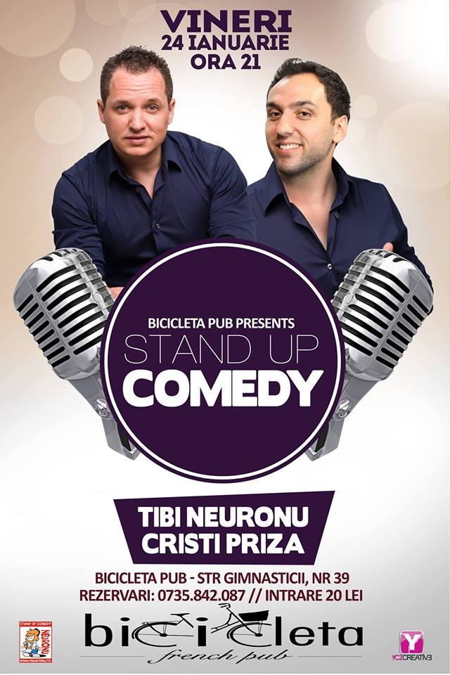 TIBI NEURONU ►STAND UP Comedy ► VINERI 24 ianuarie@Bicicleta French Pub