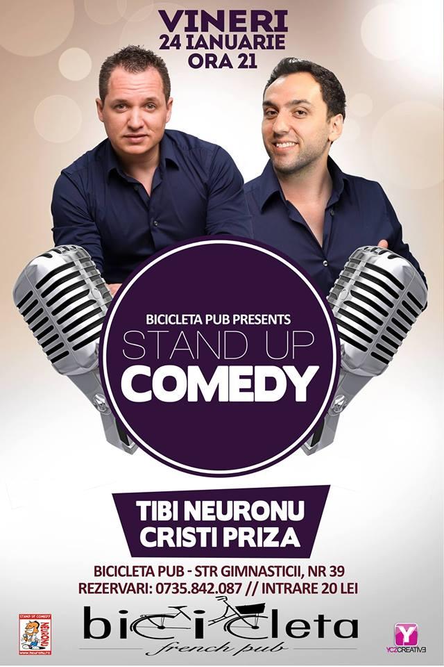 TIBI NEURONU ►STAND UP Comedy ► VINERI 24 ianuarie@Bicicleta French Pub