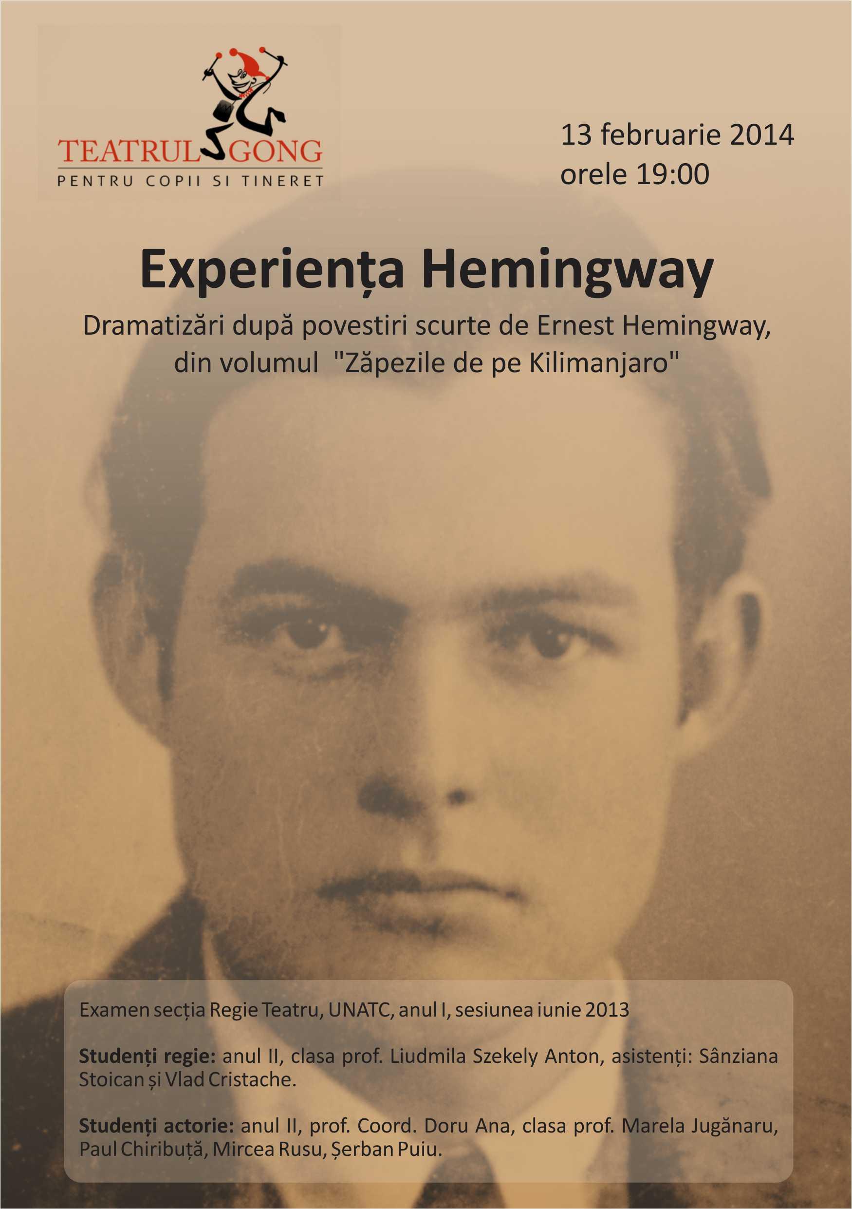 Experienta Hemingway