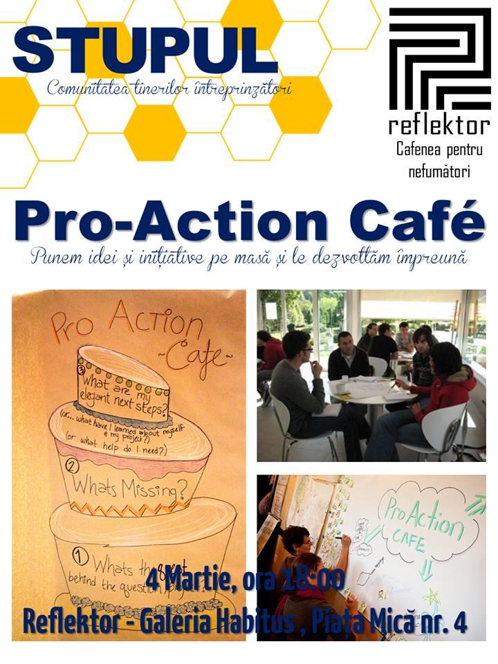 STUPUL - Pro- Action Cafe - Punem idei și inițiative pe masă și le dezvoltăm împreună