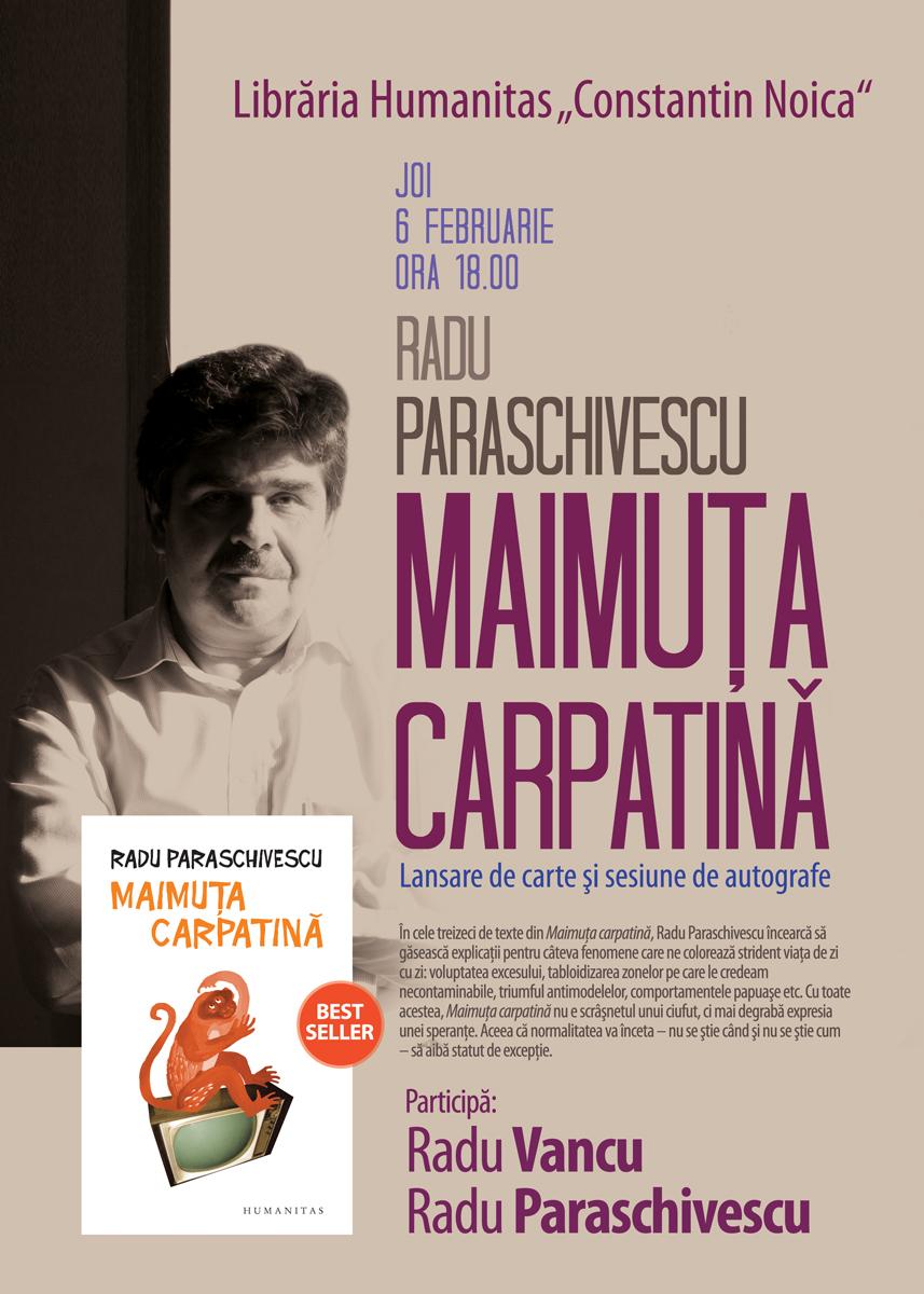 LANSARE DE CARTE - MAIMUȚA CARPATINĂ de RADU PARASCHIVESCU