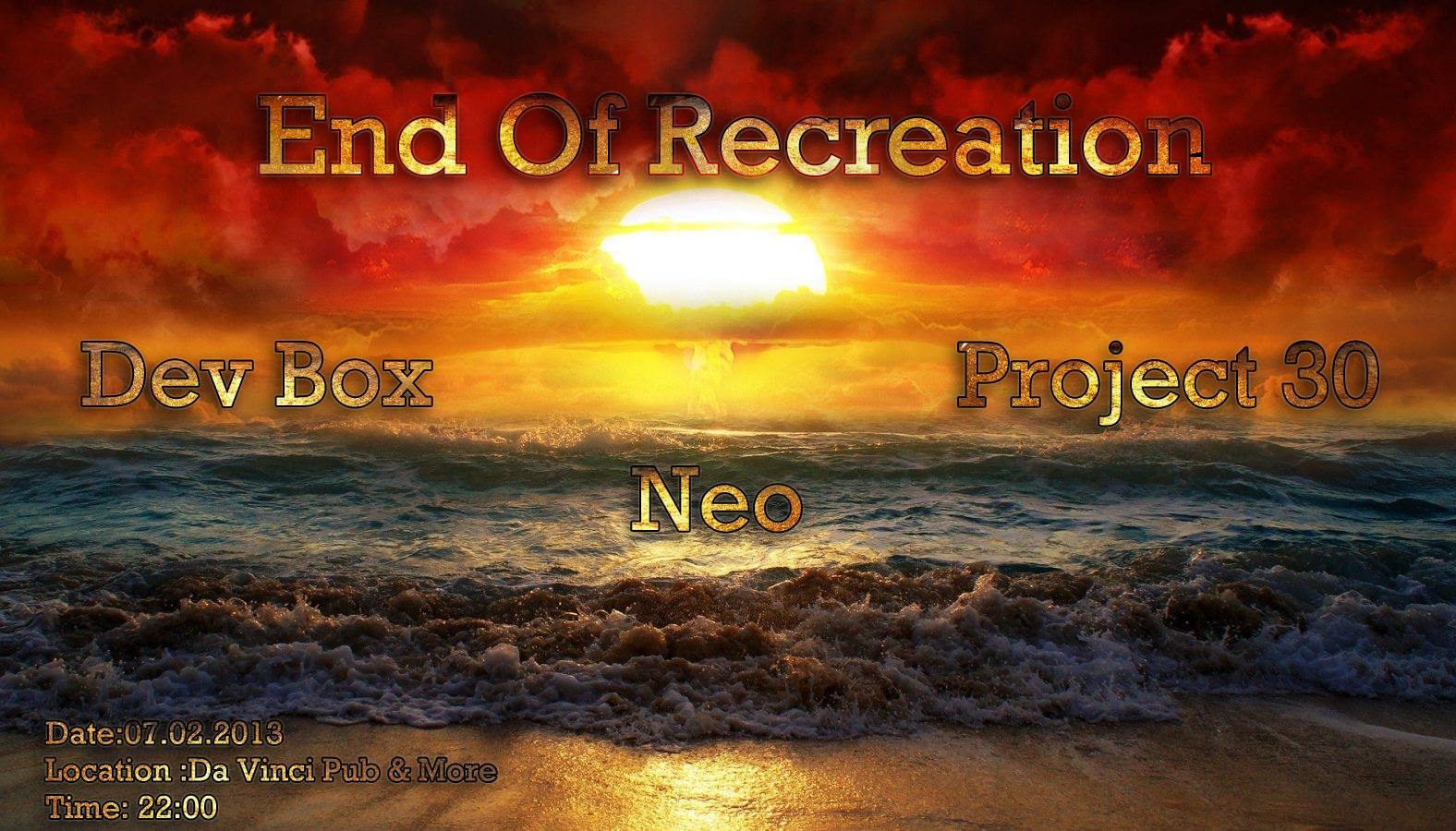 End of recreation