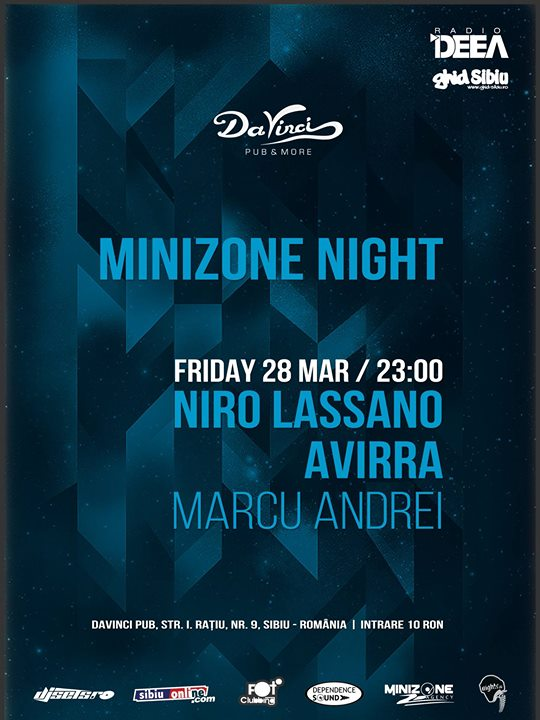 MINIZONE NIGHT presents NIRO LASSANO / AVIRRA / MARCU ANDREI