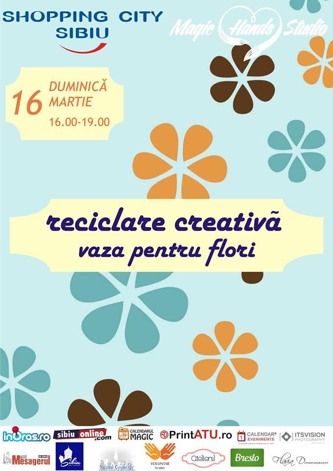 Reciclare creativă - Vaze pentru flori din sticle