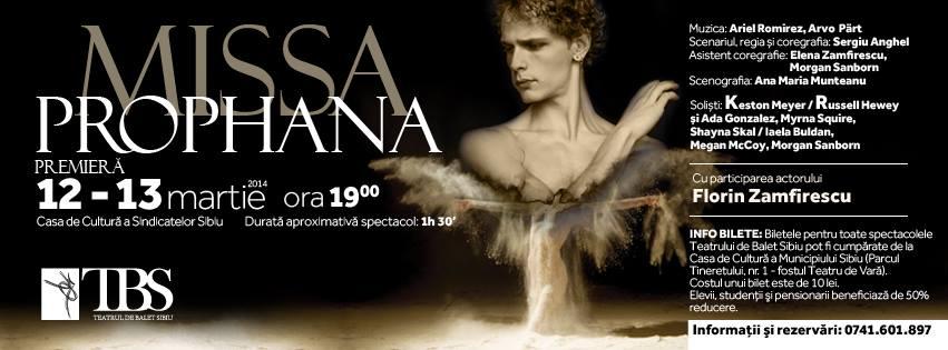 Missa Prophana - premieră de dans - teatru