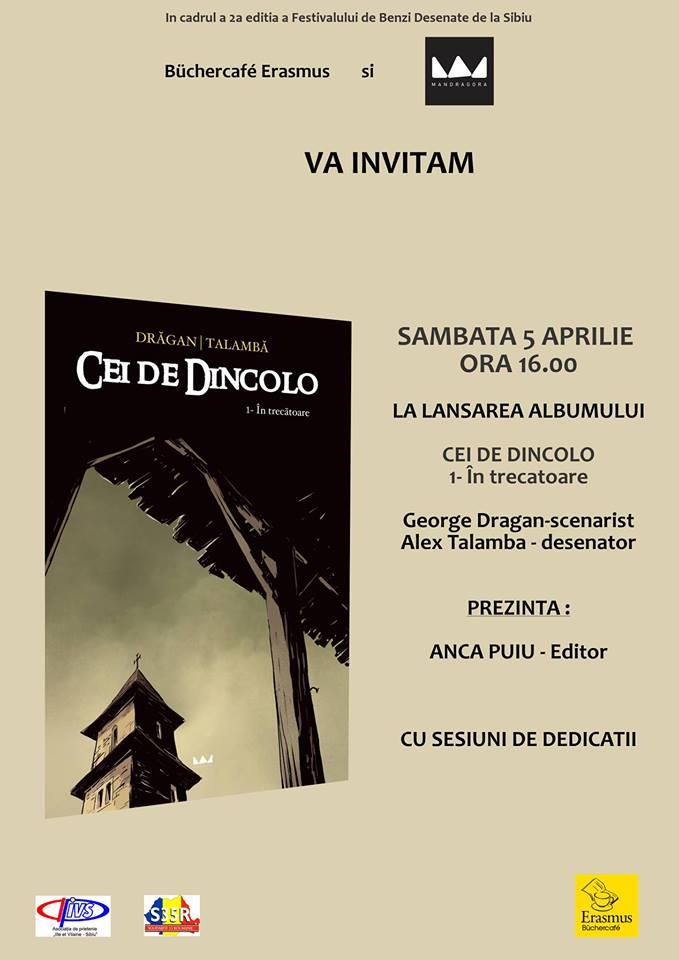 """Lansare de carte: """"Cei de Dincolo"""" Alex Talamba"""