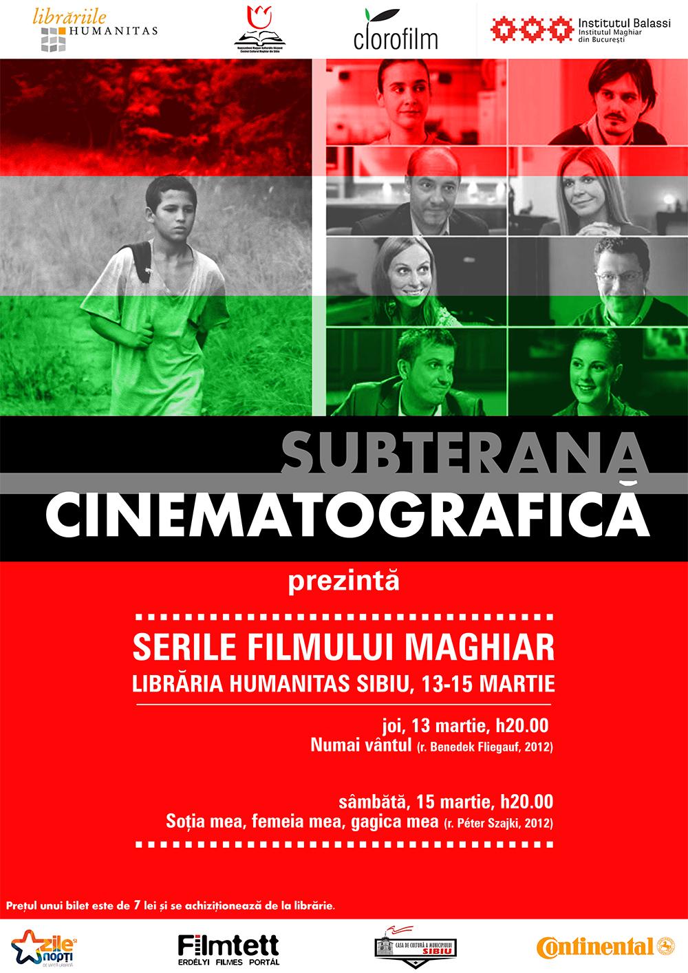 SUBTERANA CINEMATOGRAFICĂ - Serile Filmului Maghiar