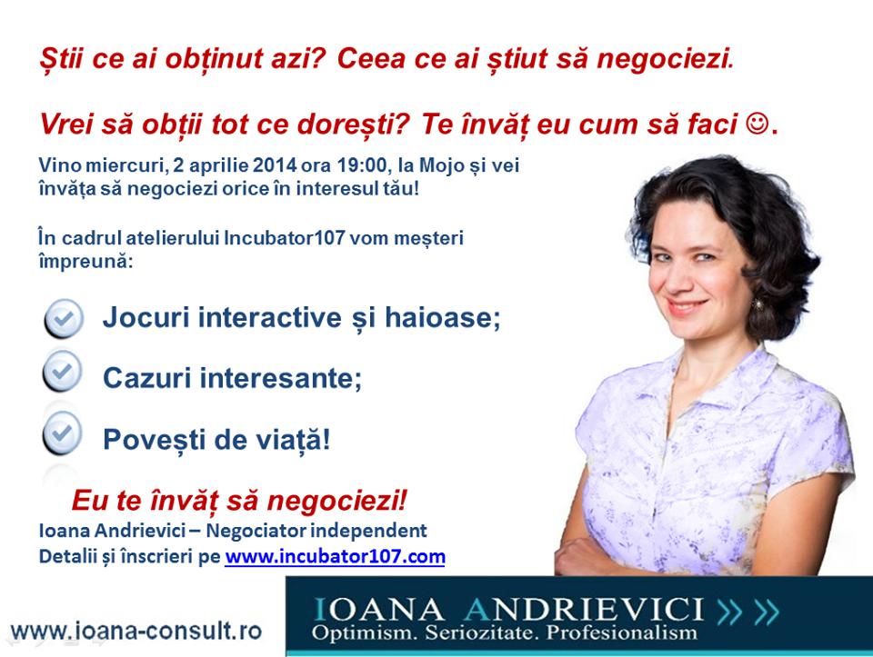 Învață să negociezi - incubator107 Sibiu