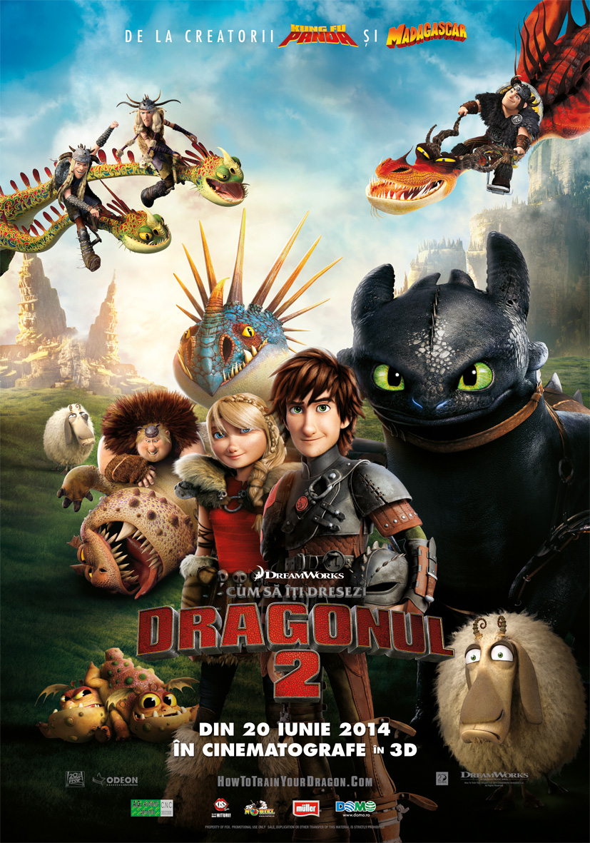 How to Train Your Dragon 2 (Cum să îţi dresezi dragonul 2) - 3D