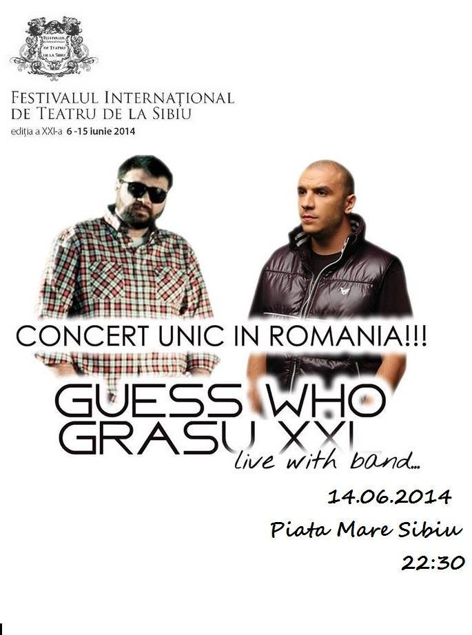 Concert Guess Who şi Grasu XXL
