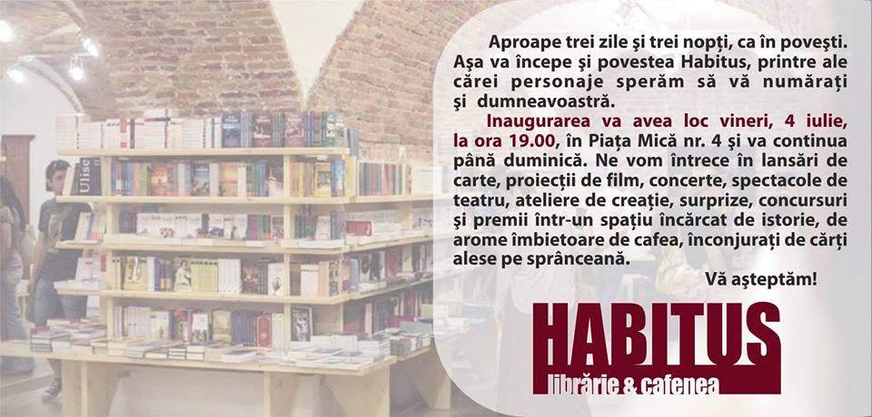 DESCHIDEREA OFICIALĂ A LIBRĂRIEI HABITUS