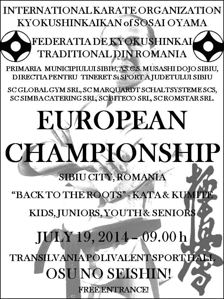 EUROPEAN CHAMPIONSHIP KARATE KYOKUSHINKAI - IKO KYOKUSHINKAIKAN SOSAI HONBU, ROMANIA