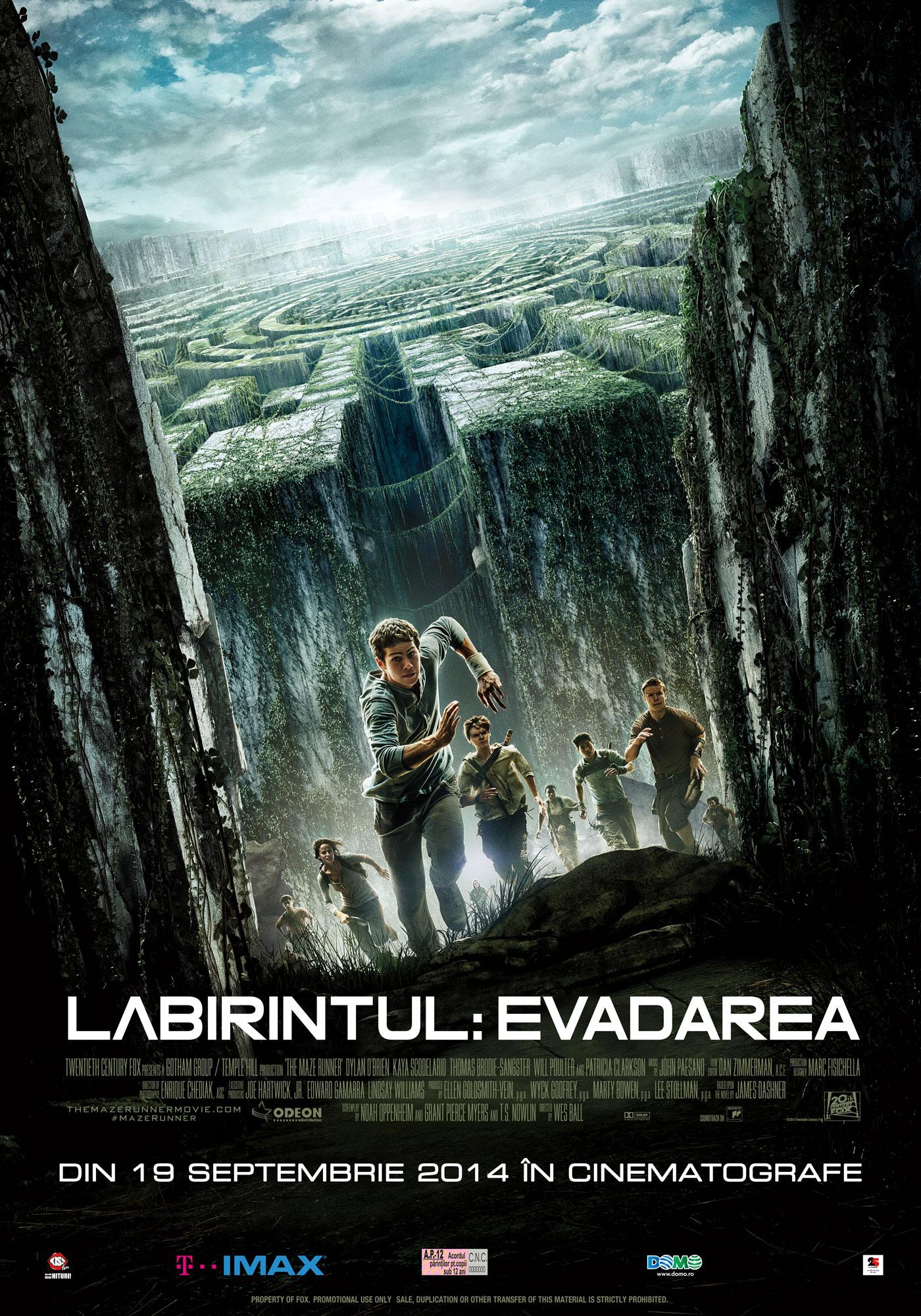 Labirintul: Evadarea/ The Maze Runner (Premiera)