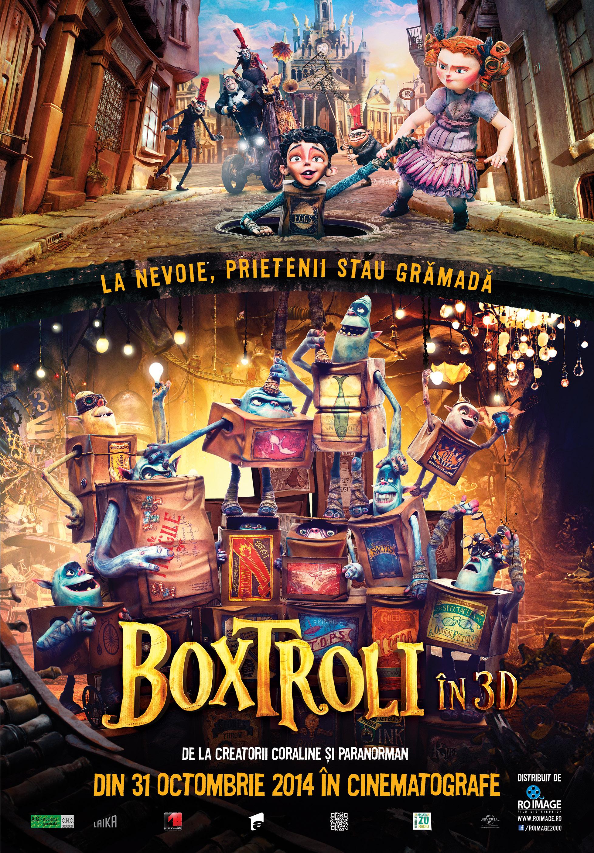 Boxtroli 3D (Dublat) / Boxtrolls 3D (Dubbed)