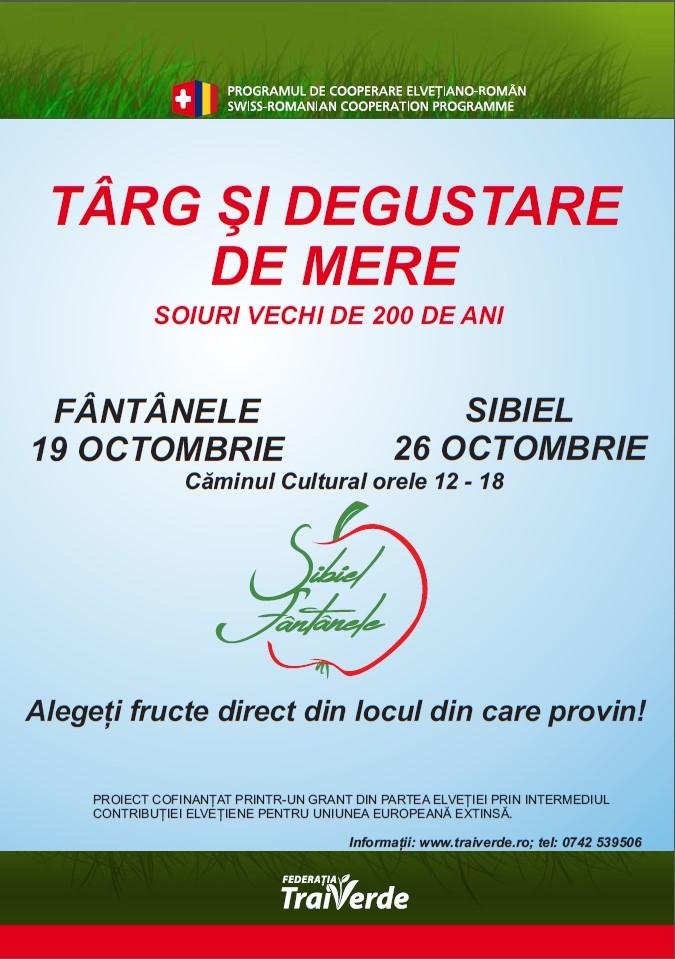 Targ si Degustare de Mere la Fantanele - 20 km de Sibiu