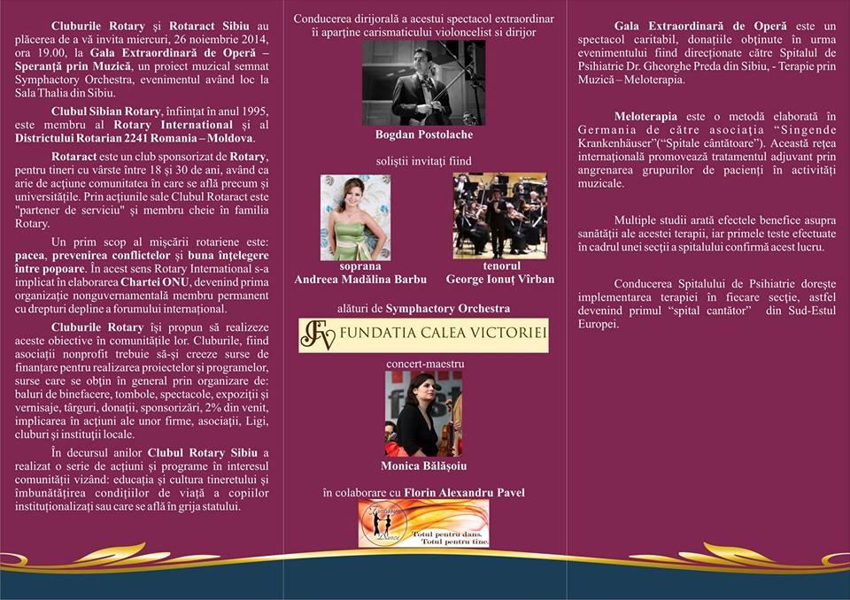 Gala Extraordinara de Opera - Speranta prin muzica