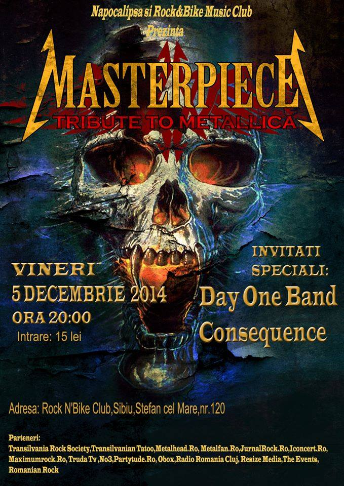 MASTERPIECE(tribute to METALLICA) live @ Rock N'Bike Club,Sibiu!