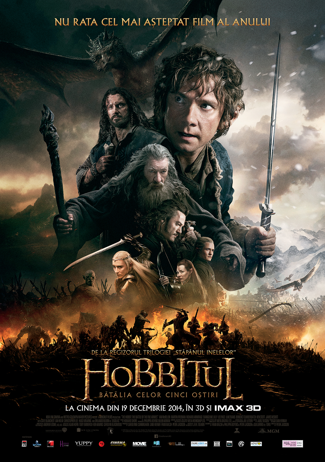 Hobbitul: Batalia celor cinci ostiri – 3D / The Hobbit: Battle of the Five Armies – 3D