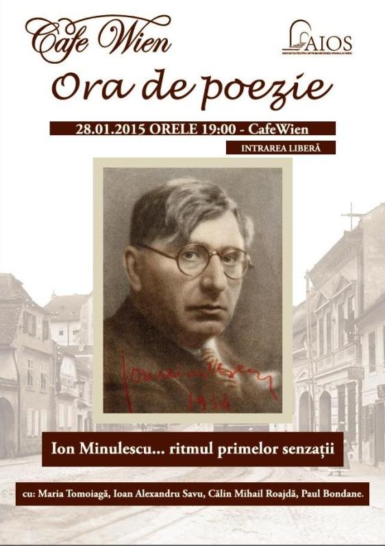 Ora de Poezie, Ion Minulescu...ritmul primelor senzatii