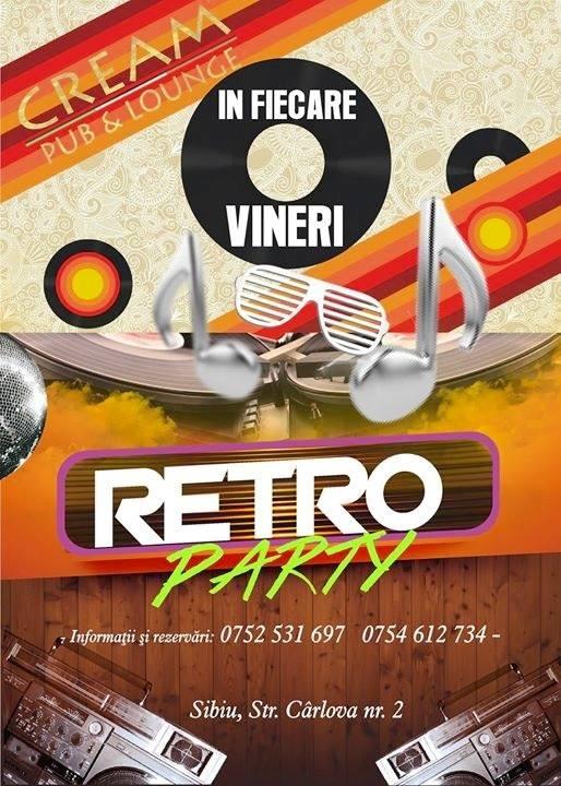 Retro Party in Cream Pub