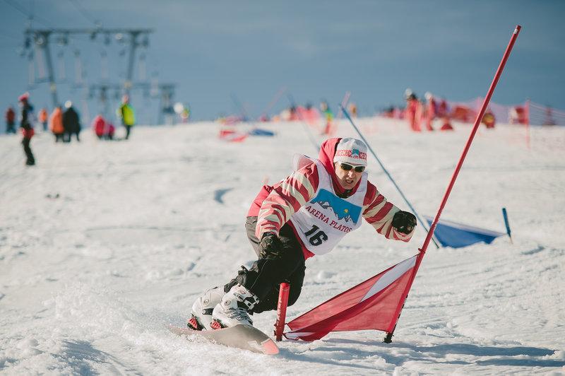 Concurs de slalom paralel la Arena Platos