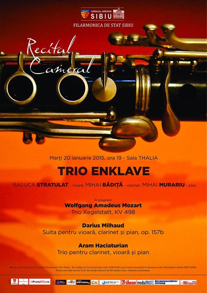 Recital cameral TRIO ENKLAVE