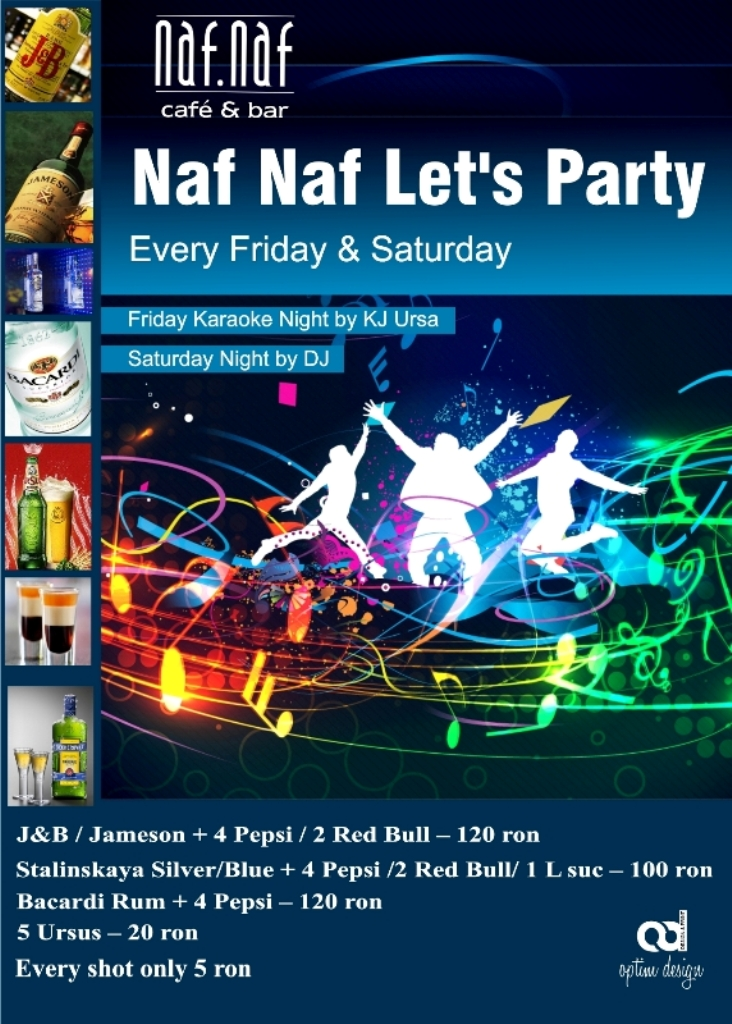 Naf Naf let's Party-Saturday Night by Resident DJ
