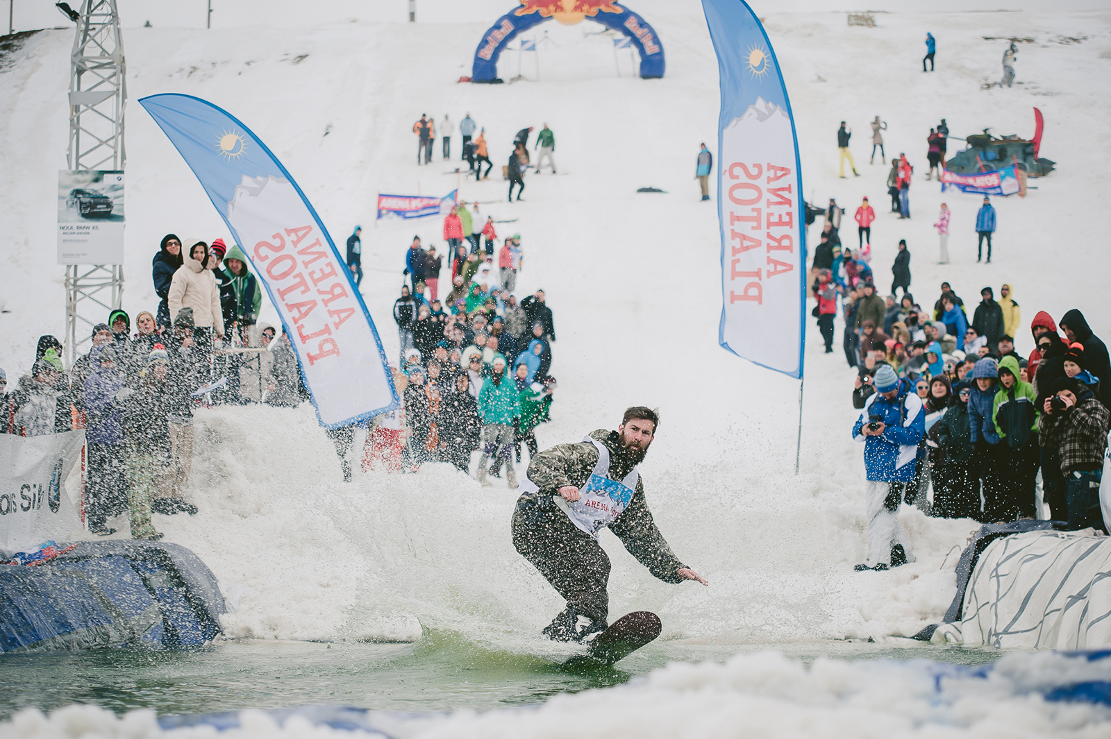 Slide and Freeze la Arena Platoș