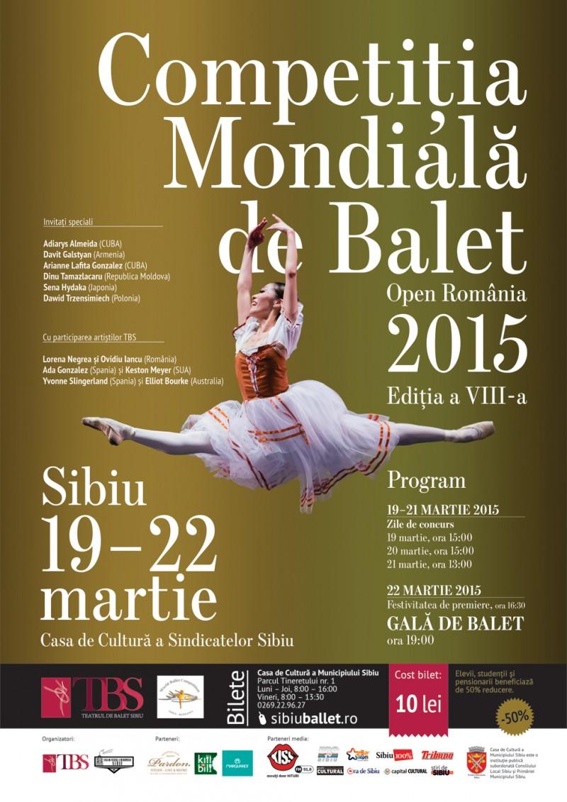 Competiția Mondială de Balet – Open România 2015