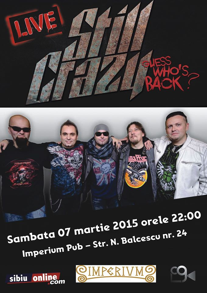 STILL CRAZY - ROCK BAND in Concert at Imperium Live Pub Sibiu