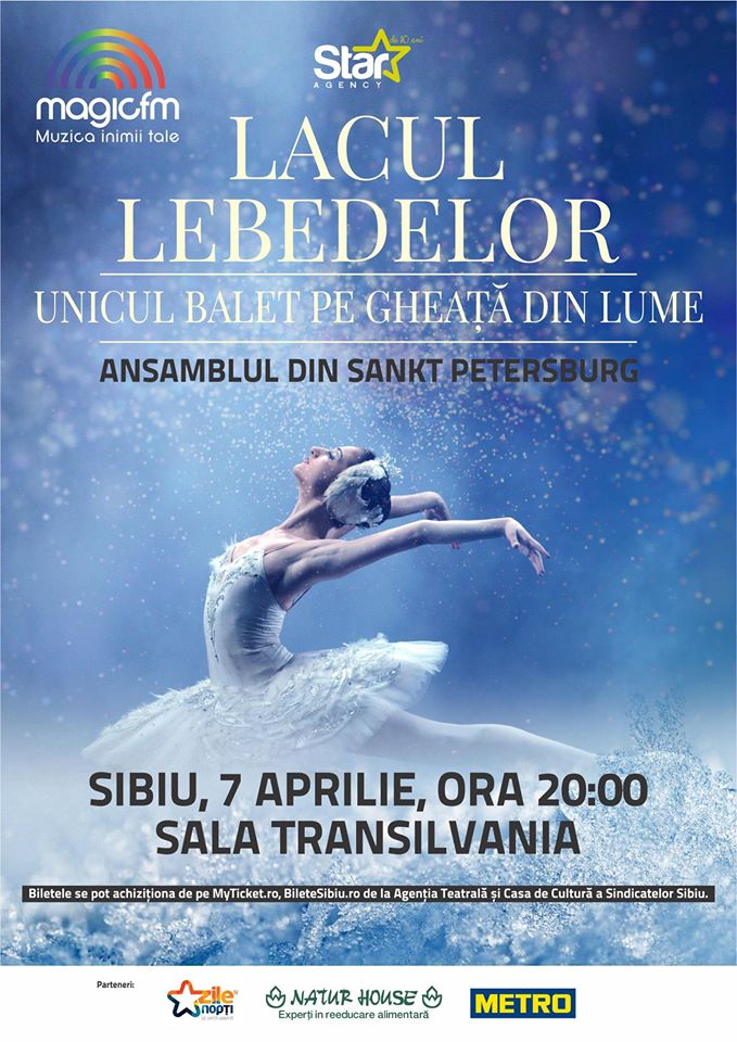 Baletul pe Gheata la  Sibiu - Lacul Lebedelor