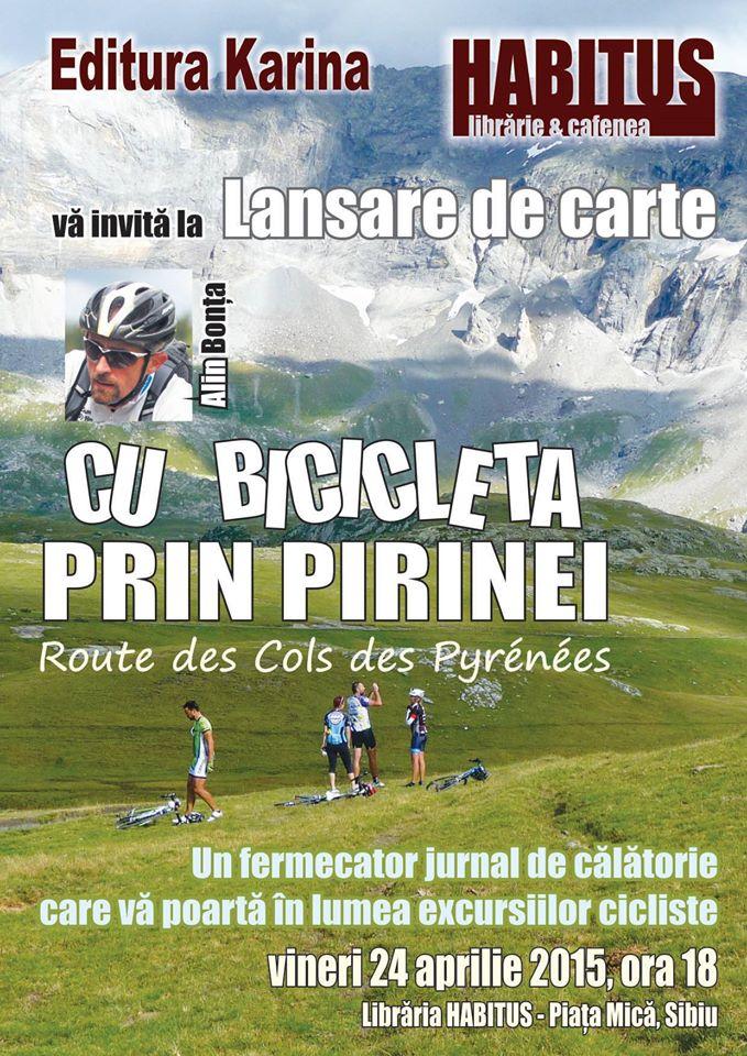 CU BICICLETA PRIN PIRINEI - LANSARE DE CARTE