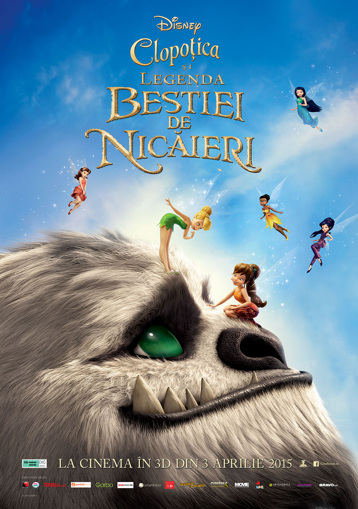 Clopotica si Legenda Bestiei de Nicaieri – 3D Dublat / TinkerBell and the Legend of the NeverBeast – 3D Dubbed (Premiera)
