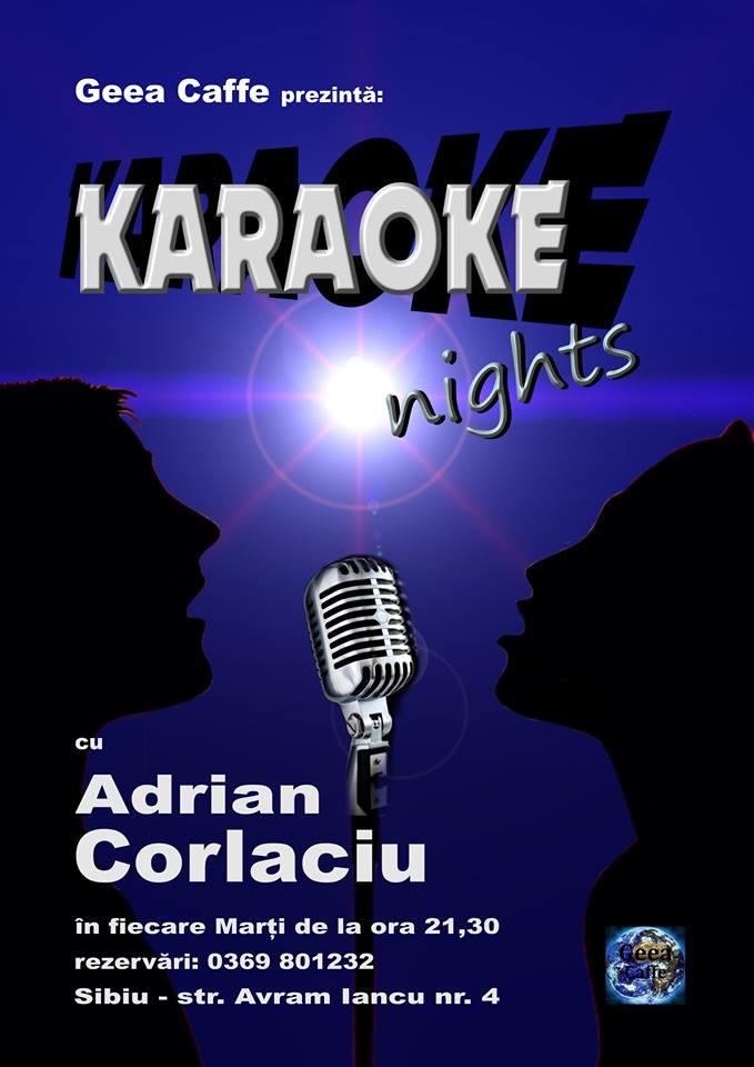 Karaoke in Geea Caffe cu Adrian Corlaciu