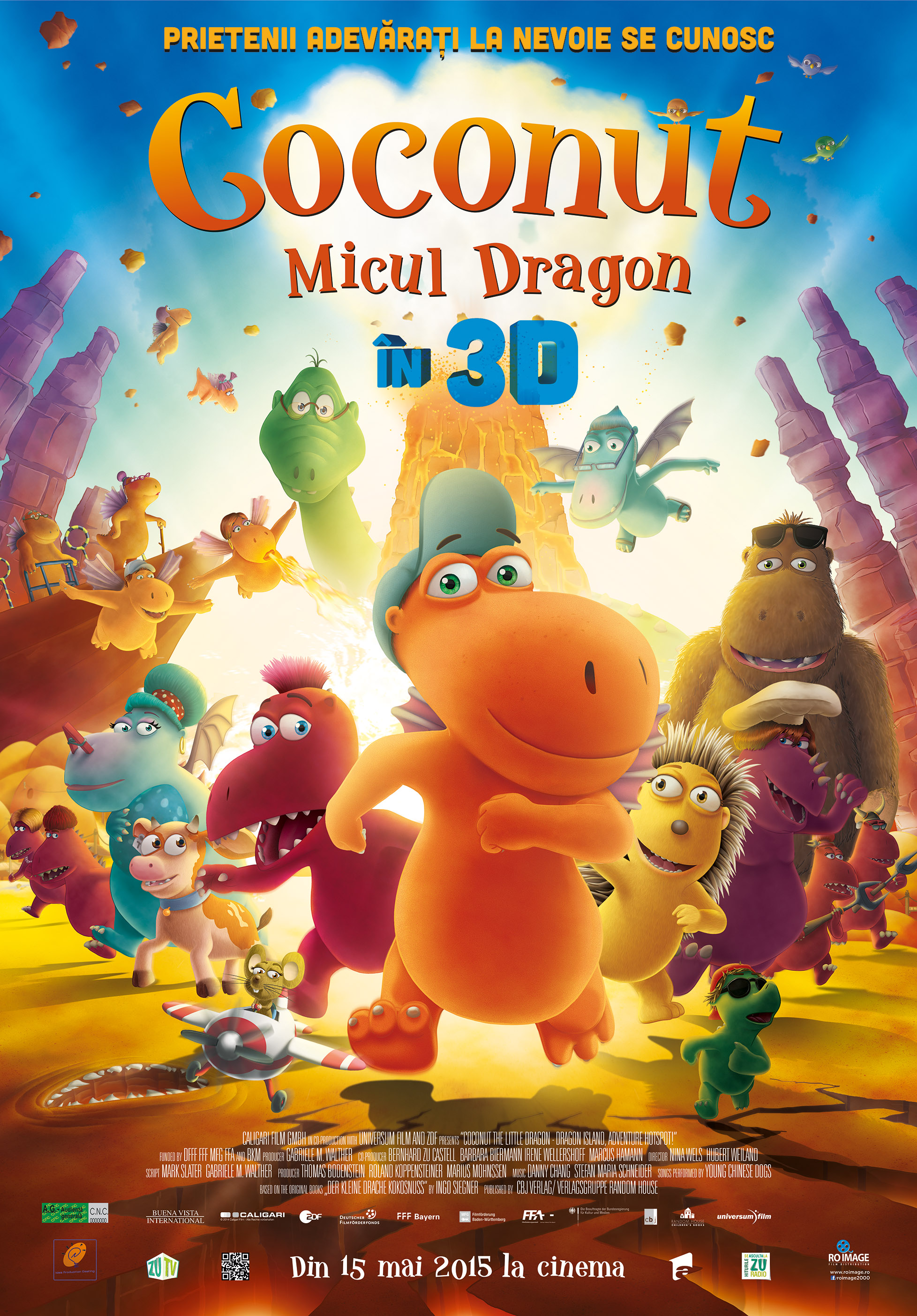 Coconut – Micul Dragon – 3D Dublat / Coconut – The Little Dragon - 3D Dubbed