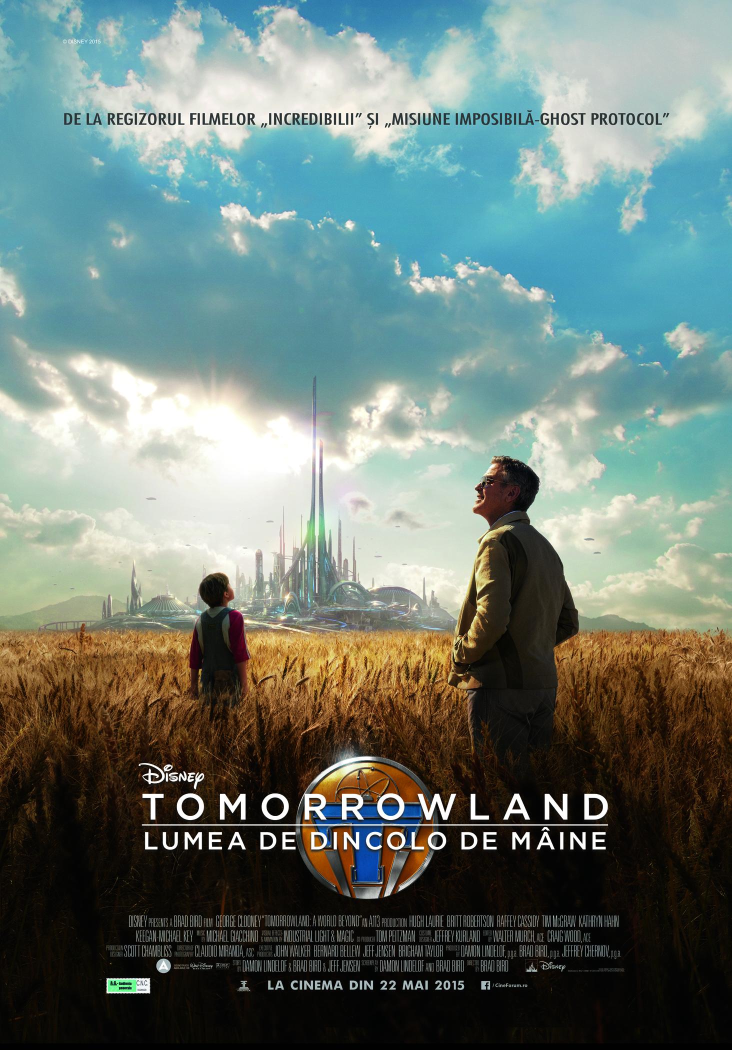 Tomorrowland: Lumea de dincolo de maine (Premiera)