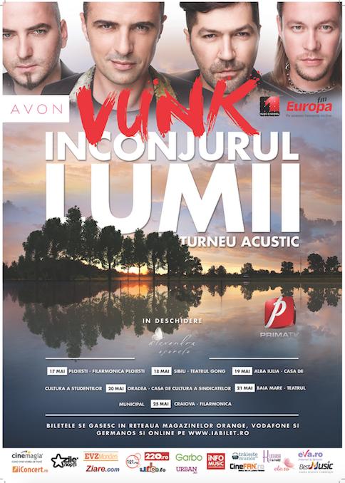 """Concert VUNK acustic - Turneul """"Inconjurul Lumii"""""""