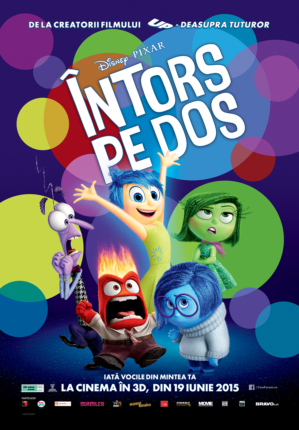 Intors pe dos – 3D Dublat / Inside Out – 3D Dubbed (Premiera)