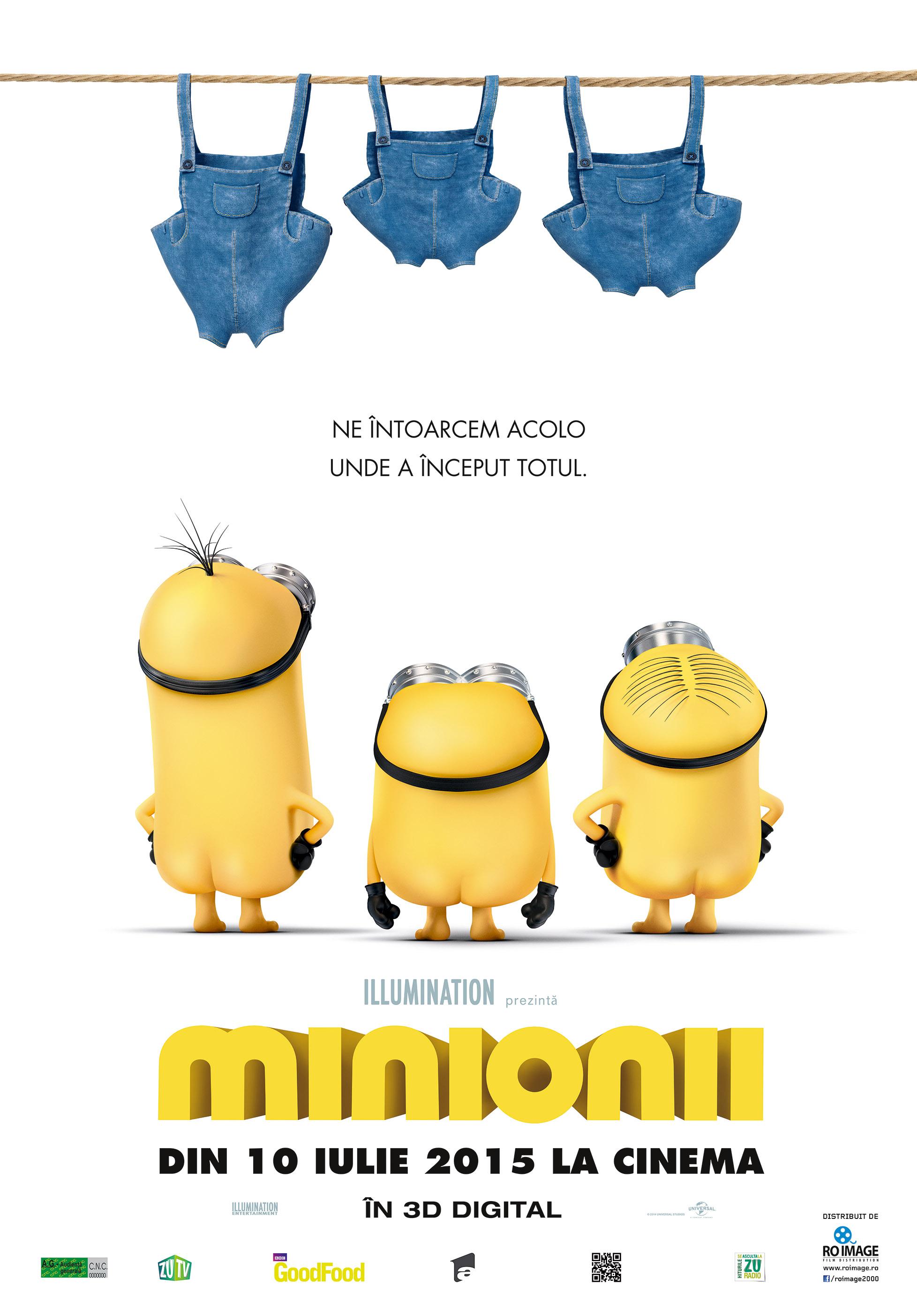 Minionii – 3D Dublat / Minions – 3D Dublat (Premiera)